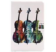 For Apple iPad Mini 4  iPad Mini 3 2 1 Case Cover Violin Stent Card PU Leather Material Flat Protective Shell