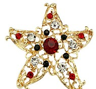 Exquisite Christmas Star Diamond Brooch