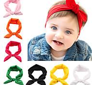 12 pc / insieme del bambino nodo fasce di colore solido di accessori per capelli turbante infantile