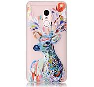 For Glow in the Dark / Translucent Case Back Cover Case Deer Soft TPU Xiaomi Redmi Note 4 Redmi Pro