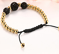 Bracelet Strand Bracelet Stainless Steel Birthday / Gift / Daily / Casual / Outdoor / Valentine Jewelry Gift Multi Color / Yellow Gold,1pc