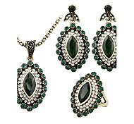 Schmuck 1 Halskette 1 Paar Ohrringe 1 Ring Kubikzirkonia Normal 1 Set Damen Goldfarben Hochzeitsgeschenke