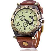Vintage Cow Leather Bracelet Watch Casual Luxury Women WristWatch Quartz Watch Relogio Feminino