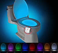 BRELONG waterproof, light-sensitive, LED8 color human induction color change toilet lamp lamp DC4.5V)