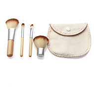 4 Makeup Brushes Set Nylon Professional / Travel / Portable Wood Face Others