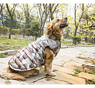 Dog Coat Vest Dog Clothes Casual/Daily Keep Warm Camouflage Camouflage Color