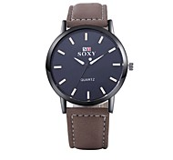 Men's Dress Watch / Fashion Watch / Wrist watch Quartz Water Resistant/Water Proof Alloy Band Silver Brand