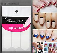 18 Nail Sticker Art Diecut Manucure Pochoir / Guide Conseils français / Autocollants 3D pour ongles Maquillage cosmétique Nail Art Design