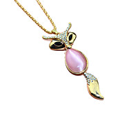 Necklace / Pendants Jewelry Party / Casual Pendant Alloy Women 1pc Gift Light Pink / Rose Gold