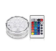 1Pcs Беспроводной Others Rgb 10Led Smd5050 4.5v Remote Waterproof Vase Lamp Разноцветный