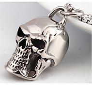 Муж. Ожерелья с подвесками Бижутерия В форме черепа Титановая сталь Мода По заказу покупателя Панк бижутерия Бижутерия Назначение Свадьба