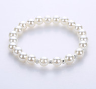 Imitation Pearl Bracelet European And American Fashion For Men And Women Lovers Bracelet The Original Manual System Of A Single String