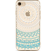 For Apple iPhone 7 7Plus 6S 6Plus Case Cover Blue Flower Pattern Painted TPU Material Soft Package Phone Case