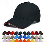 Pure color blank cap Baseball cap cap team working cap Breathable / Comfortable Unisex BaseballSports polyester