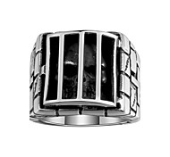 Ring Jewelry Stainless Steel Steel Skull / Skeleton Jewelry Unique Design Fashion Black Jewelry Halloween Daily Casual 1pc
