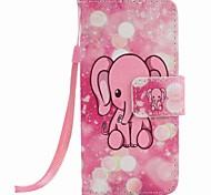 caso telefono rosa pittura elefante PU per Apple iTouch 5 6