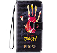 Для Кошелек / Бумажник для карт / со стендом / Флип Кейс для Задняя крышка Кейс для Слова / выражения Твердый Искусственная кожа для Apple