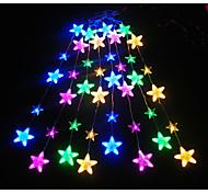 Cordões de Luzes lm V 3 m 136 leds Amarelo Azul Rosa