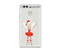 For Huawei P9 P9 Lite  P8 P8lite Pattern Case Back Cover Case Christmas Angel Soft TPU for P9 Plus P9 Mini Max P7 Honor 6 Honor 6 Plus Honor 4C
