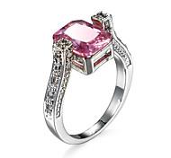Pink Blue  CZ Diamond Pave Ring Zirconia Weddings Handmade Colored Zircon Jewelry Women Girls Anillo Azul