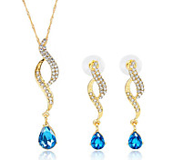 May Polly  Europe and the United States Burst Angel Tears Necklace Earrings Set