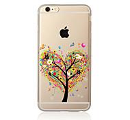 Para Transparente / Estampada Capinha Capa Traseira Capinha Árvore Macia TPU para AppleiPhone 7 Plus / iPhone 7 / iPhone 6s Plus/6 Plus /