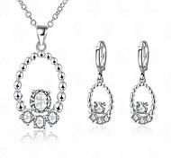 Gioielli 1 collana / 1 paio di orecchini Strass / imitazione diamante Matrimonio / Feste / Quotidiano 1 Set Da donna BiancoRegali di