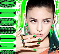 14 Pcs  Stickers Green Rush Nail Polish Nail