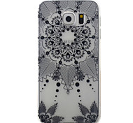 For Samsung Galaxy S7 S6 Case Cover Black Campanula Pattern Painted TPU Material Phone Case