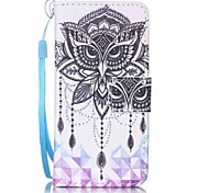 Eagle Campanula Painting PU Phone Case for apple iTouch 5 6