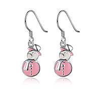 Christmas Snowman Drop Earring
