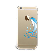 The dolphins  For Ultra-thin / Pattern Case Back Cover Case Playing with Apple Logo Soft TPU AppleiPhone 7 Plus / iPhone 7 / iPhone 6s Plus/6 Plus /