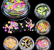 1g New Mini Round Thin Paillette Colorful Design Nail Art Decorations Fashion DIY Sticker for Gel Polish Nail Glitter P29-35