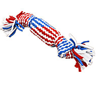 Cat Pet Toys Interactive Rope Red / Blue Textile