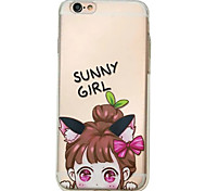 For iPhone 6S 6plus Case Cover Little Girl Pattern Embossed Scrub TPU Material Phone Case