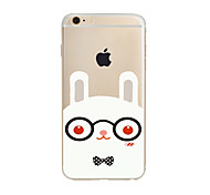Rabbit Pattern TPU Soft Case Cover for Apple iPhone 7 7 Plus iPhone 6 6 Plus iPhone 5 SE 5C iPhone 4