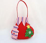 4PCS Christmas Gift Bag Candy Bag Party Supplies Christmas Apple Gift Bag(Style random)