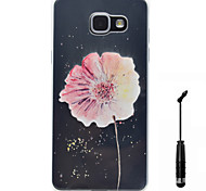 For Samsung Galaxy A5 A3 (2016) Case Cover Flower Pattern Super Soft Painting High Permeability TPU Material Phone Case  Touch Screen Pen