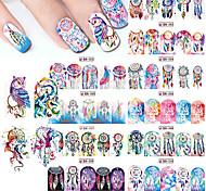 12 Стикер искусства ногтя Вода Передача Переводные картинки макияж Косметические Nail Art Design