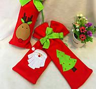 3шт рождественские украшения Санта-Клаус бутылки вина связать красное вино мешки случайный цвет