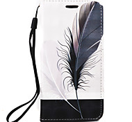 For LG G4 Plus Case Cover Feathers Pattern 3D Relief PUP Material Phone Case