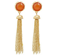 New Design Gold Color Long Chain Earrings
