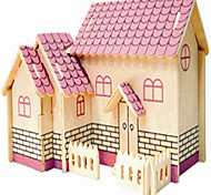 Jigsaw Puzzles Wooden Puzzles Building Blocks DIY Toys Purple Cabin 1 Wood Ivory Model & Building Toy