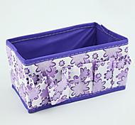 Solid Nylon Waterproof Purple Normal 1 Cosmetic Bag