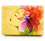 желтый цветок девушка картина MacBook корпус компьютера для Macbook air11 / 13 pro13 / 15 Pro с retina13 / 15 macbook12