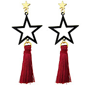 New Designs Star Shape Long Tassel Chain Earrings Women