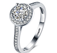 White Gold Plated Rings  CZ Diamond Rings For Men Women Wedding Engagement Vintage Bague Bijoux Fashion Jewelry