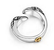 Couple Rings Jewelry Titanium Steel Silver Jewelry Wedding Party Daily 1pc 1 pair