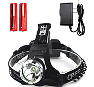 Lights Headlamps LED  Cree T6 18650 Waterproof / Rechargeable / Super Light / Hiking/Caving 18650 battery*2 Charger*1