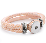 Bracelet Leather Bracelet Alloy / Leather Daily / Casual / Outdoor Jewelry Gift Light Pink / Dark Green / Khaki / Daffodil,1pc